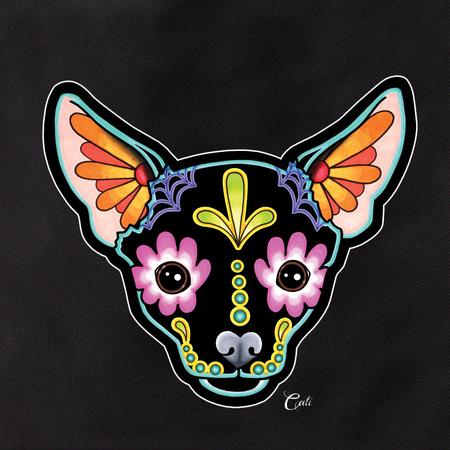 Cali Chihuahua Black Tote | Sugar Skulls