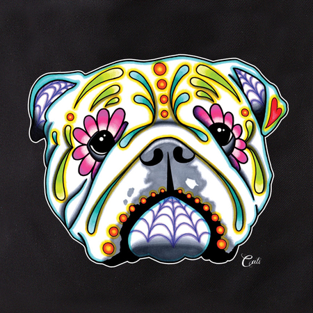 Cali English Bulldog Tote | Tote Bags