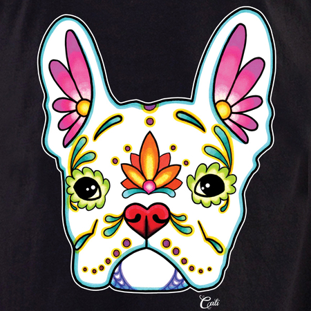 Cali French Bulldog White Tote | Cali