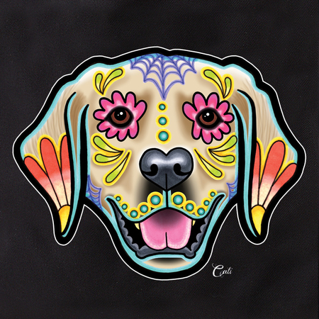Cali Pretty In Ink Golden Retriever Tote | Sugar Skulls