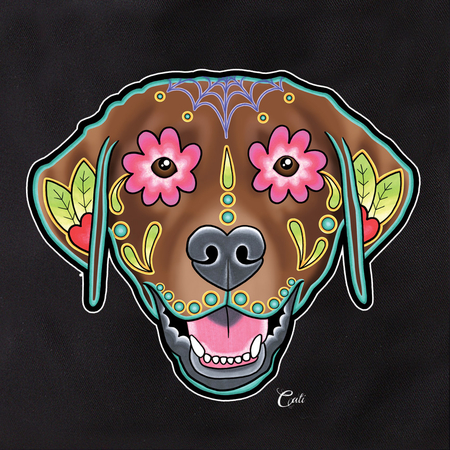 Cali Pretty In Ink Labrador Chocolate Tote | Sugar Skulls