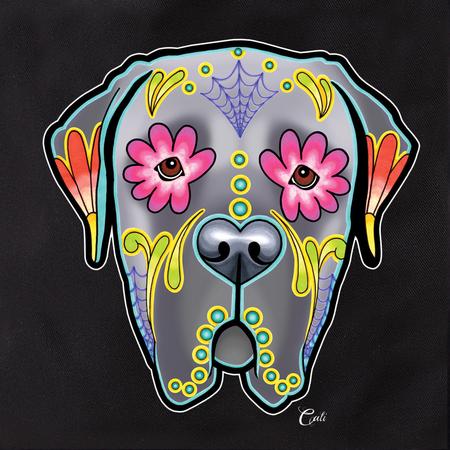 Cali Pretty In Ink Mastiff Grey Tote | Dogs
