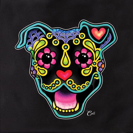 Cali Smiling Pit Bull Black Tote | Cali