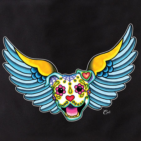Cali Winged Pit Bull Tote | Tote Bags