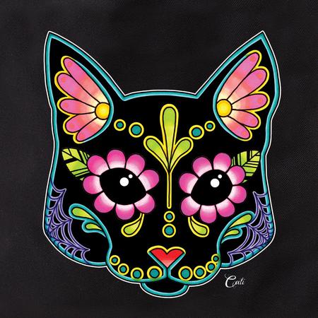 Cali Pretty in Ink Cat Black Tote | Tattoo