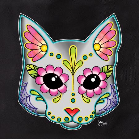 Cali Pretty In Ink Cat Grey Tote | Tattoo