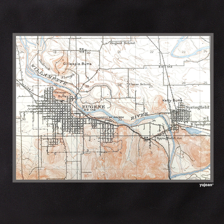 Eugene Map Tote | Tote Bags