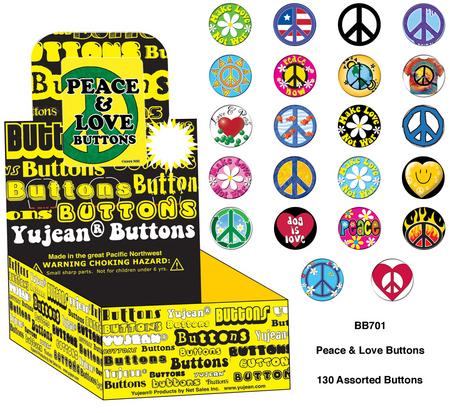 Peace & Love Button Box