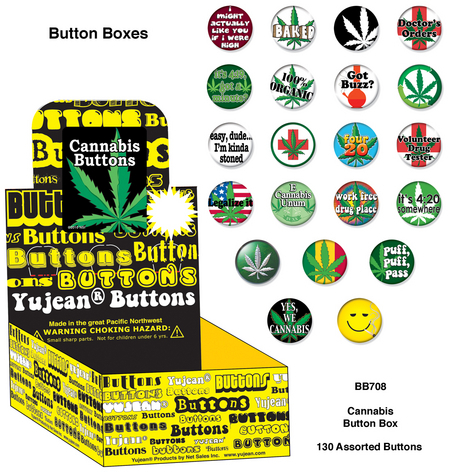 Cannabis Button Box | Hippie