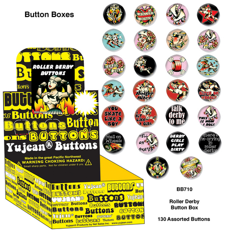 Tattoo Roller Derby buttons