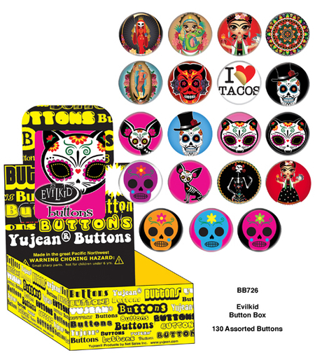 Evilkid Dos button box | Button Boxes-WHOLESALE ONLY