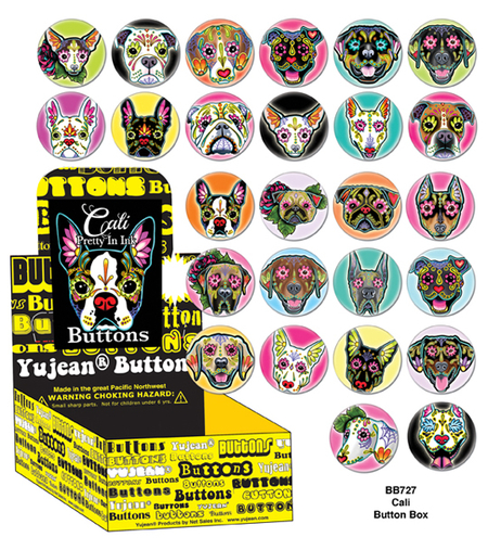 Cali SUGAR DOGS Button Box | Button Boxes-WHOLESALE ONLY