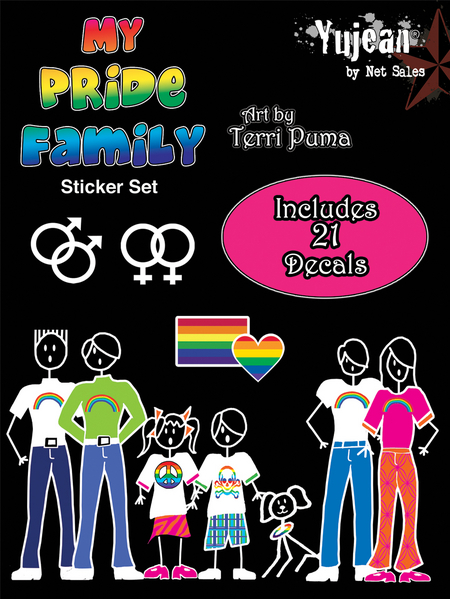 My Pride Family Gay Pride Stick Family Sticker Pack