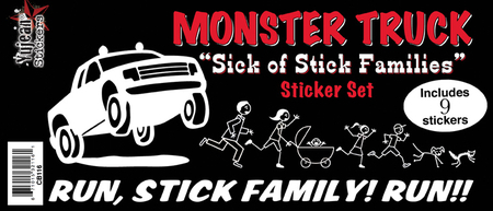 Monster Truck Got Your Stick Family Sticker Set | CLEARANCE!!