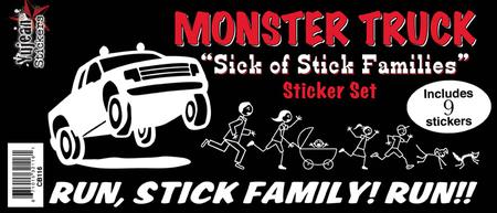 Monster Truck Got Your Stick Family Sticker Set | Stickers