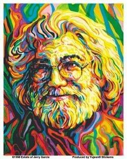 Jerry Garcia Portrait Sticker