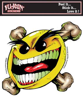 Chaos-Smiley Face Flyin' Sticker
