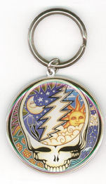 Grateful Dead Celestial Steal Your Face Metal Keychain