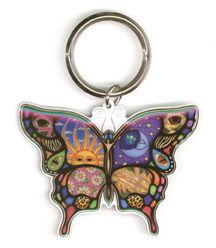 Dan Morris Celestial Day/Night Butterfly Metal Keychain