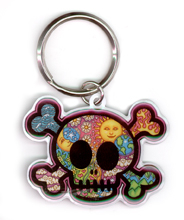 Cute Skull Metal Keychain