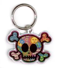Dan Morris Cute Celestial Skull Metal Keychain