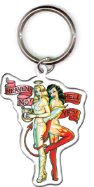 Kirsten Easthope Hell Yes Retro Pinup Metal Keyring | LOL!!!
