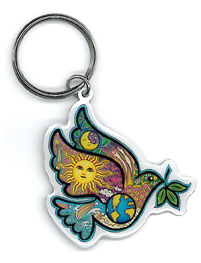 Dan Morris Peace Dove Key Ring | Peace and Eco