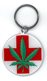Medical Leaf Key Ring | Cannabis
