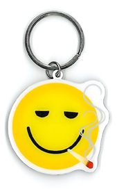 Smokin' Smiley Key Ring | Keychains-Metal