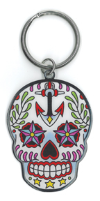 Sunny Buick Ancre Sugar Skull metal keychain | Sunny Buick