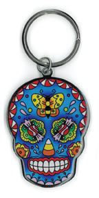 Sunny Buick Candy Sugar Skull Metal Keychain | Tattoo