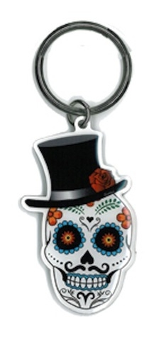 Evilkid El Catrin Sugar Skull keyring | Undead, Skeletons and Creatures of the Night