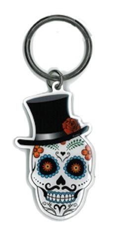 Evilkid El Catrin Sugar Skull keyring | Evilkid