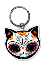 Evilkid Gato Muerto Sugar Skull keyring | Undead, Skeletons and Creatures of the Night