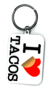 Evilkid I Heart Tacos keyring | For the Girlz