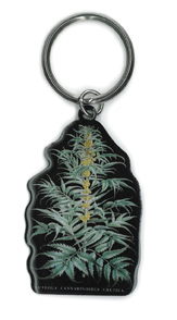 Cabinet of Curiosities Cannabis Plant Keyring | Hippie