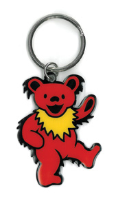Dancing Bear Keyring | Grateful Dead Stickers, Patches, Keychains and More!