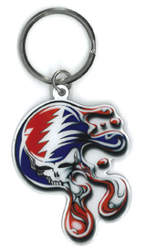 Melting Steal Your Face Keyring | Hippie