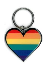 Rainbow Heart Keyring | Gay Pride, LGBT