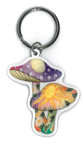 Dan Morris Mushrooms Keyring | Hippie