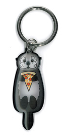 Cali's Otter Pizza Keyring | Peace and Eco