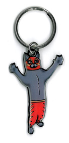 Pretty in Ink Gato Luchador Keyring | New Stuff, 2018