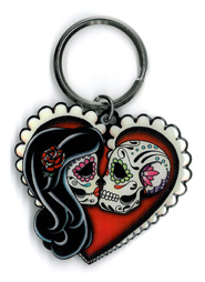 Pretty in Ink Ashes Red Heart Keyring | Cali: Pretty In Ink
