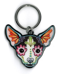 Pretty in Ink Chihuahua Keyring | Keychains!