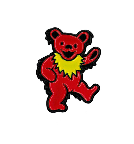 Grateful Dead Dancing Bear Enamel Pin | New Stuff Flyer, 2017