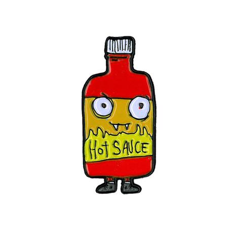 Dr. Krinkles Hot Sauce Enamel Pin | Enamel Pins