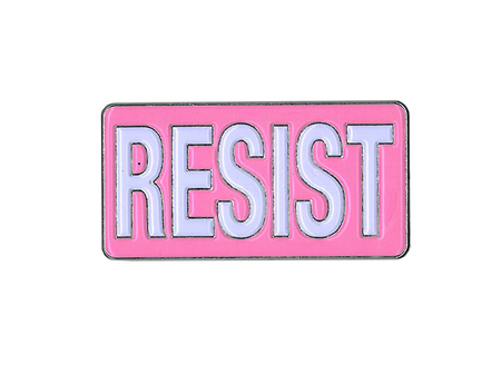 Pink Resist Enamel Pin | #PINKRESIST