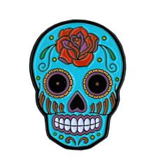 Sunny Buick Rose Sugar Skull Enamel Pin | The Very Latest!!!