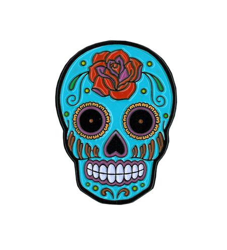 Sunny Buick Rose Sugar Skull Enamel Pin