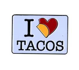 Evilkid I Heart Tacos Enamel Pin   The Very Latest!!!
